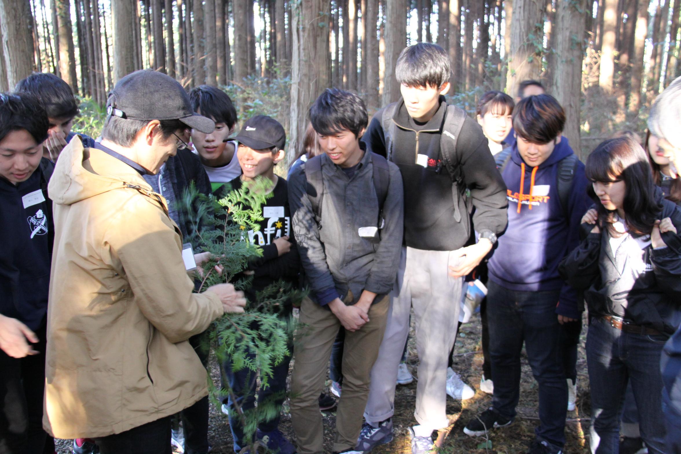 20171112 森林での学生向けエココミュニティ研修